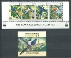 234 SEYCHELLES 1996 - Yvert 802/05 BF 35 - WWF Oiseau - Neuf ** (MNH) Sans Trace De Charniere - Seychelles (1976-...)