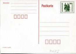"""(FC5) DDR Amtl. GZS-Postkarte P 107 I 30Pf. Oliv Mit Blindperforation""""Goethe-Schiller-Denkmal"""", Ungebraucht - Postkarten - Ungebraucht"""
