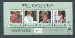 234 SEYCHELLES 1998 - Yvert BF 40 - Princesse Diana - Neuf ** (MNH) Sans Trace De Charniere - Seychelles (1976-...)