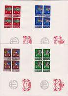 Lichtenstein FDC  1981   MiNr.766 - 769 4er Blocks Wappen Der Landamänner ( D 5138 ) Günstige Versandkosten - FDC