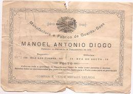 PORTO  ( PORTUGAL) 1907- -SELO FISCAL 20 REIS - Advertising
