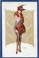 CPA Bertiglia Non Circulé Illustrateur Italien Italie Italia Art Déco Femme Girl Women érotisme Risque - Bertiglia, A.