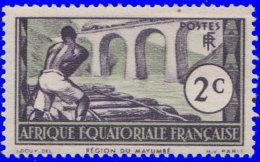 A.E.F. 1937. ~ YT  34*  -  Région Du Mayumbé - A.E.F. (1936-1958)