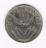-&   RWANDA  10 FRANCS  1974 - Rwanda