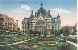 Antwerpen - Anvers - CPA - La Gare Centrale , Vue Du Square - Antwerpen