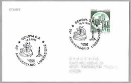 50 Años LIBERACION DE GENOVA - 50 Years Liberation. Genova 1995 - Seconda Guerra Mondiale