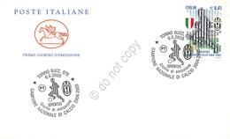 FDC Cavallino - Italia Repubblica 2005 - Juventus Campione D'Italia 2004-2005 - Francobolli