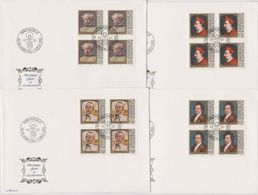 Lichtenstein FDC  1981   MiNr.784 - 787 4er Bl. Gemälde Berühmter Gäste In Lichtenstein ( D6142 ) Günstige Versandkosten - FDC