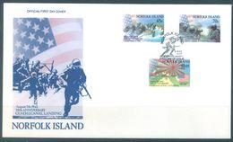 NORFOLK ISLAND - FDC - 6.8.1992 - GUADALCANAL  - Yv 519-521 ASC 522-524 - Lot 17490 - Ile Norfolk