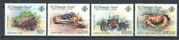 234 ZIL ELWAGNE Seychelles 1984 - Yvert 101/04 - Crustace Crabe - Neuf ** (MNH) Sans Charniere - Seychelles (1976-...)