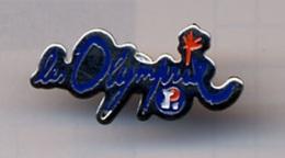 "{07236} Pin's "" Leclerc , Les Olymprix "" (a).            "" En Baisse "" - Trademarks"