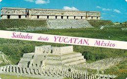 1 AK Mexiko * Uxmal The Governor's Palace (1996) UNESCO Erbe - Chichén Itzá Tempel Der Krieger - (1988) UNESCO Erbe - Mexique