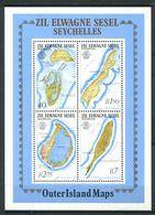 234 ZIL ELWANNYEN SESEL Seychelles 1983 - Yvert BF 2 - Carte Des Iles - Neuf ** (MNH) Sans Charniere - Seychelles (1976-...)
