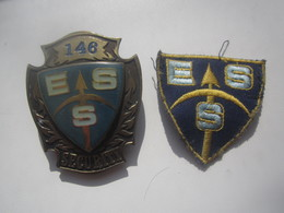 ESTONIA, ESS SECURITY SERVICE, NUMBERED BADGE + PATCH - Police