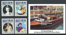 234 ZIL ELWANNYEN SESEL Seychelles 1985 - Yvert 116/19 BF 3 - Reine Elizabeth Taxi Fluvia - Neuf ** (MNH) Sans Charniere - Seychelles (1976-...)