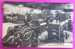 Cpa Martigné Briand Usine Clavereau Atelier Tissage Mécanique Métier Rare Carte Postale 49 Maine Et Loire Proche Cornu - Sonstige Gemeinden