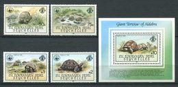 234 ZIL ELWANNYEN SESEL Seychelles 1985 - Yvert 120/23 BF 4 - WWF Tortue - Neuf ** (MNH) Sans Charniere - Seychelles (1976-...)