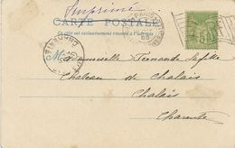 Paris Exposition Universelle Avec Flamme Drapeau RF Sur Timbre Sages Et Sur Carte Postale 18 Octobre' 1900 - Annullamenti Meccaniche (Varie)