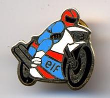 """{07098} Pin's """" ELF, Moto """".            """" En Baisse """" - Fuels"""