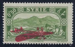 SIRIA 1929/30 - Yvert #38a (Sobrecarga Invertida) - MLH * - Siria