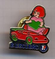 "{07102} Pin's "" Leclerc , Jouets "" (c).            "" En Baisse "" - Trademarks"