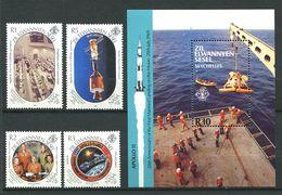 234 ZIL ELWANNYEN SESEL Seychelles 1989 - 182/85 Yvert BF 6 - Apollo Espace Astronaute - Neuf ** (MNH) Sans Charniere - Seychelles (1976-...)