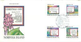 NORFOLK ISLAND - FDC - 9.10.1989 - CHRISTMAS - Yv 460-463 ASC 462-465- Lot 17492 - Ile Norfolk