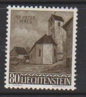 Liechtenstein 1958 Christmas / St. Peter Kapelle 1v ** Mnh  (39552H) - Liechtenstein