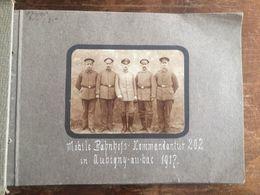 59 Aubigny Au Bac Nord Fotoalbum Bahnhof-Kommandantur 1917 Gare Du Nord Deutsche Soldaten 1.Weltkrieg 19 Fotos - Francia