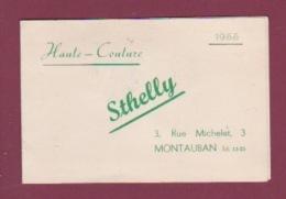 170718  - 82 MONTAUBAN Calendrier 1955 - STHELLY Haute Couture 3 Rue Michelet Montauban - Calendars