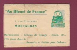 170718  - 82 MONTAUBAN Calendrier 1954 - AU BLEUET DE FRANCE 5 Rue Princesse Montauban Valise Jouet - Calendars