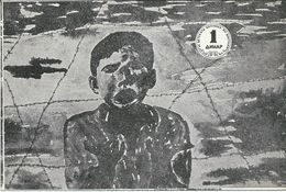 Macedonia For A Children's Hospital In Vietnam.( 1 Dinar ).drawing Simo Spasovski A Child Of Valandovo - Mazedonien