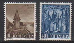 Liechtenstein 1957 Christmas 2v Unused Regummed (39552H) - Liechtenstein