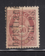 Norway 1893-1908 Used Scott #57a 50o Post Horn - Norvège