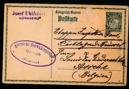 JOSEF UHLFELDER NURBERG - NAAR ASSE 1915 - LOUIS VAN GINDERACHTER HOUBLONS - 2 SCANS - Asse
