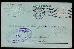 LES BRASSEURS REUNIS BRUXELLES  - NAAR ASSE 1916 - LOUIS VAN GINDERACHTER HOUBLONS - 2 SCANS - Asse