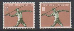Liechtenstein 1956 Sport / Speerwurf 10Rp 2x ** Mnh (39552H) - Liechtenstein