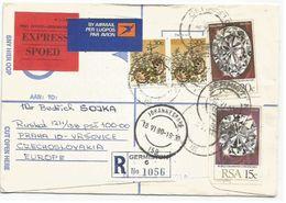 Diamonds Diamanti Cullinan I & II + Other Airmail Express Reg.CV S.Africa 18jun80 X Czech - Minerali