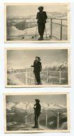 Trois Photographies Privées Station De Ski AURON 1952 - Lieux