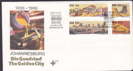 South Africa Ersttags Brief FDC Cover 1986 Johannesburg The Golden City Complete Set !! - FDC