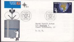South Africa Ersttags Brief FDC Cover 1975 Nachrichtenübermittlung Durch Satelliten - FDC