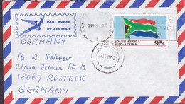 South Africa Par Avion Air Mail KAPSTAAD Cape Town 1994 Cover Brief ROSTOCK Germany Flag Flagge - South Africa (1961-...)