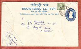 Einschreibeumschlag Ashokasaeule + ZF, Neu Delhi 1967 (54539) - Briefe