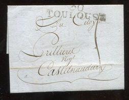 Frankreich / 1818 / Vorphila-Bf. L2-o 30 TOULOUSE (12010) - Poststempel (Briefe)