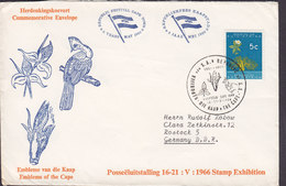 South Africa Commemorative 1966 Cover Brief Stamp Exhibition Festival CAPE TOWN Bird Vogel Oiseau Cachet - South Africa (1961-...)