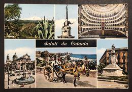 Saluti Da Catania  VIAGGIATA 1959 Lievi Pieghe  COD.C.2015 - Catania
