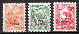 Trieste Zone B STT VUJNA 1954 Italia Yugoslavia Slovenia, Economy Definitive Set MNH - 7. Triest