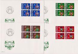Lichtenstein FDC  1982   MiNr.793-796 4er Block Wappen Der Landamänner ( D K 24 ) Günstige Versandkosten - FDC