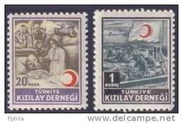 1953 TURKEY RED CRESCENT ASSOCIATION CHARITY STAMPS MNH ** - 1921-... République