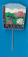 VELIKA PLANINA 1600 M  Mountain Lodge Alpinism, Mountaineering, Edelweiss Slovenia Pin - Alpinism, Mountaineering